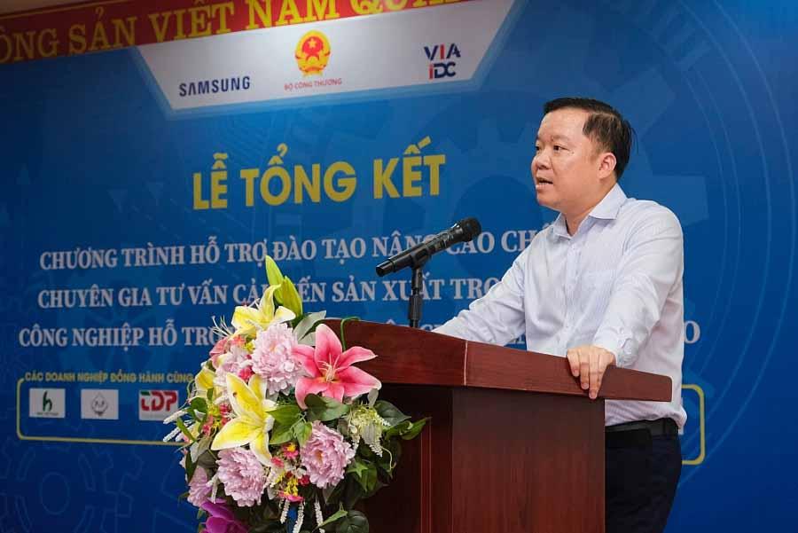Ông Phạm Tuấn Anh - Phó Cục trưởng Cục Công nghiệp, Bộ Công Thương phát biểu tại buổi lễ